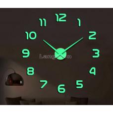 Часы 3d DIY настенные светящиеся арабские  цифры