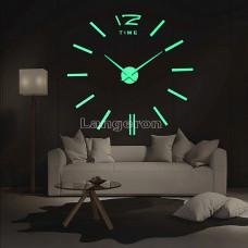 Часы 3d DIY настенные светящиеся с полосками и одной цыфрой