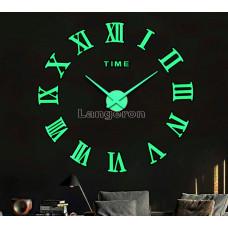 Часы 3D DIY настенные светящиеся  с римск цифрами
