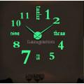 Часы 3D DIY настенные большие светящиеся со словами и цифрами