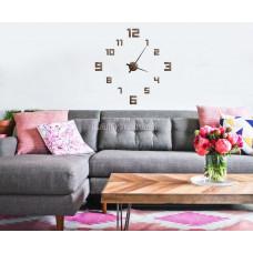 Часы деревянные на стену цифры ромб