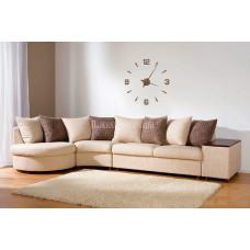 Часы деревянные на стену/цифры/ арабские/декор/круглые