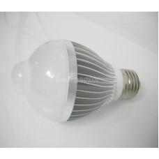 Лампочка с инфракрасным датчиком движения алюминиевый радиатор 5W E27