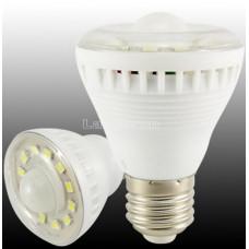 Лампочка с инфракрасным датчиком движения 5W 425LM E27 12 LED 5630 SMD