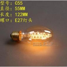 Лампочка накаливания c55 Лампа Эдисона Е27 DIY. Декоративный свет вольфрам.