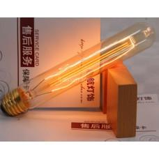 Лампочка накаливания t30-1 Лампа Эдисона Е27 DIY. Декоративный свет вольфрам.