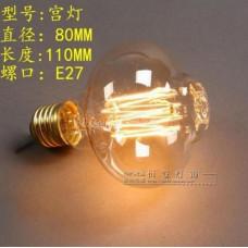 Лампочка накаливания t400-1 Лампа Эдисона Е27 DIY. Декоративный свет вольфрам.