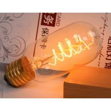 Лампочка накаливания t45-3 Лампа Эдисона Е27 DIY. Декоративный свет вольфрам.