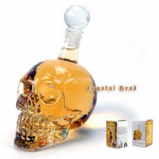 Графин Череп большой для виски водки 1000мл 1л, фактический 1150мл Crystal Skull