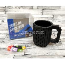 Чашка кружка lego лего отличный подарок черная