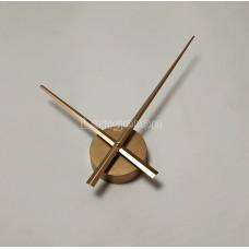 Часовой механизм 30 см минутная стрелка золотой с золотыми стрелками