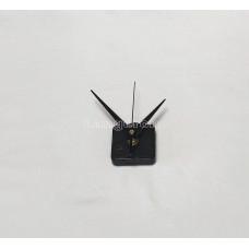 Часовой механизм настенный с черными стрелками и ушком
