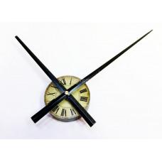 Часовой механизм с циферблатом черные стрелки 30 см