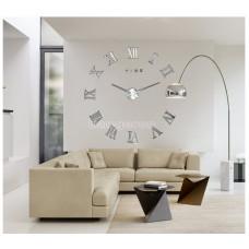 Настенные часы объемные 100м с римскими цифрами diy сделай сам Зеркальные