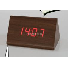 Часы настольные под дерево wooden clock