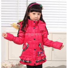 Пуховик для девочки размер 122 128 134 фуксия розовый синий оранжевый snoopy снупи