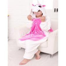Пижама Единорог белый S рост 145-155 с розовыми крыльями и животом кигуруми kigurumi