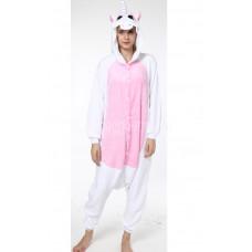Пижама Единорог белый M рост 155-165 с розовыми крыльями и животом кигуруми kigurumi