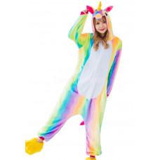 Пижама Единорог радужный S рост 145-155 кигуруми разноцветный
