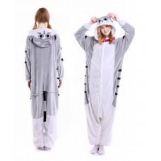 Пижама кигуруми серая кошка L на рост 165-175 kigurumi