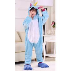 Пижама Единорог голубой на рост 125-130см кигуруми kigurumi костюм