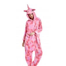 Пижама Единорог звездный розовый S на рост 145-155см на молнии кигуруми kigurumi костюм