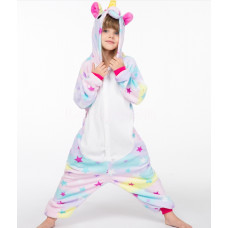 Пижама кигуруми Единорог звездный на рост 125-130см kigurumi разноцветный со звездами