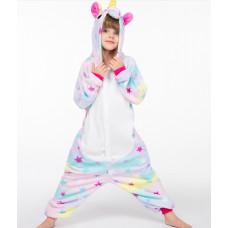 Пижама Единорог звездный разноцветный рост 135-140