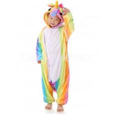 Пижама Единорог радужный разноцветный на рост 125-130