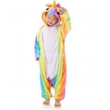 Пижама кигуруми Единорог радужный на рост 132-137см kigurumi разноцветный