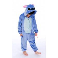 Пижама кигуруми Стич на рост 140-145см kigurumi голубой