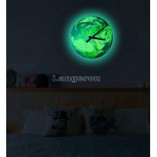 Часы настенные светящиеся в темноте Евроа  30см