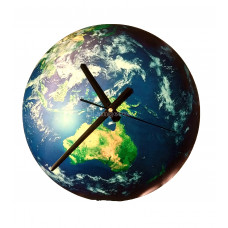Часы настенные светящиеся в темноте Азия 30см