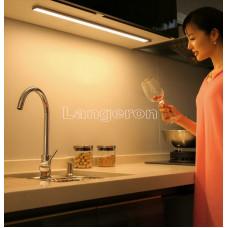 LED подсветка светильник для столешницы, шкафа, кладовки с сенсором движения 2шт по 50см теплый белый 220v
