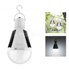 Лампочка фонарик питание от солнечной энергии светодиодная для туристов, походов 12w