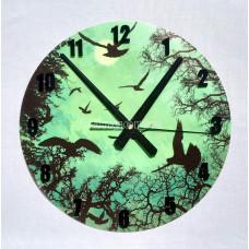 Часы настенные светящиеся в темноте Стая птиц ночью 29 см