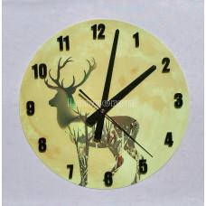 Часы настенные светящиеся в темноте Олень 29 см