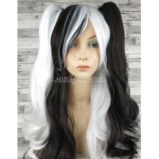 Парик косплей Лолита черный белый со съемными хвостами