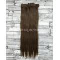 Волосы на заколках набор коричневые №8 ровные трессы из 6 тресс 16 клипс
