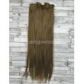 Волосы на заколках набор русые №12 ровные трессы из 6 тресс 16 клипс