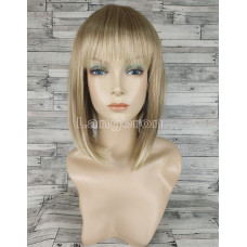 Парик блонд каре с прямой челкой №9606 оттенок 15BT613