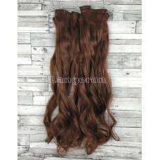 Трессы волнистые набор бургунди №33 55см 140г волосы на клипсах 6 прядей 16 клипс