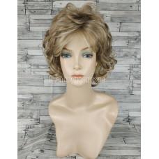 Парик блонд подкрученный короткий №1560А оттенок H16-613