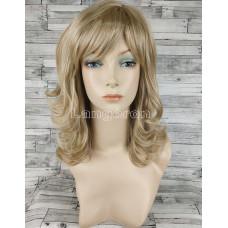 Парик блонд волнистый средней длины №421 оттенок H16-613