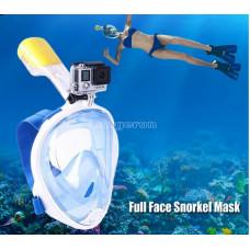 Маска для подводного плаванья S/M с антизапотевающим эффектом со встроенной трубкой