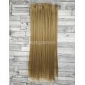 Волосы на заколках набор блонд темный №18 ровные трессы из 6 тресс 16 клипс