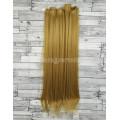 Волосы на заколках набор русые золотистый №26 ровные трессы из 6 тресс 16 клипс