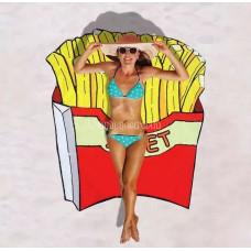 Покрывало пляжное Картошка Фри подстилка 3D