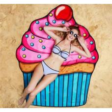 Покрывало пляжное Пироженое пляжная подстилка мороженое капкейк