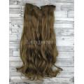 Волосы на заколках набор коричневые светлые №6 волнистые трессы из 6 тресс 16 клипс